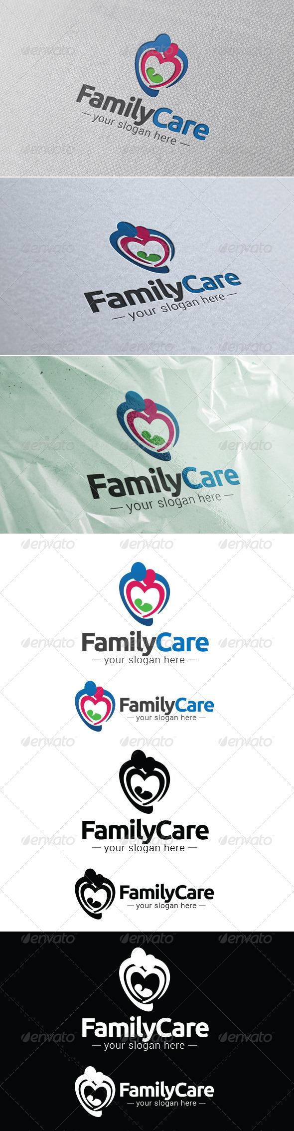 GraphicRiver Family Care Logo Template 7885558