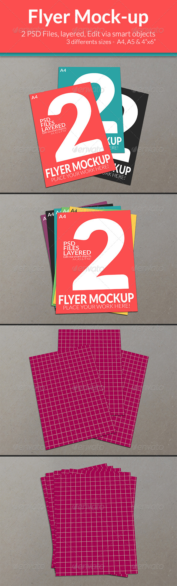 GraphicRiver Flyer Mock-up SS-4 7885878