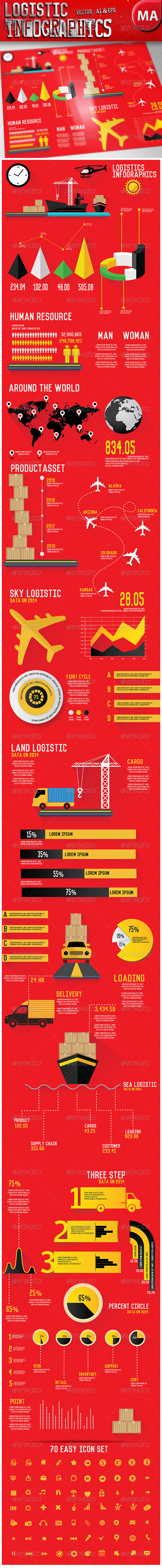 GraphicRiver Logistics Infographics 7885880
