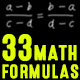 33 Math Formulas - VideoHive Item for Sale