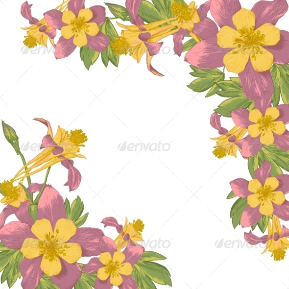GraphicRiver Frame with Blooming Flowers 7886569