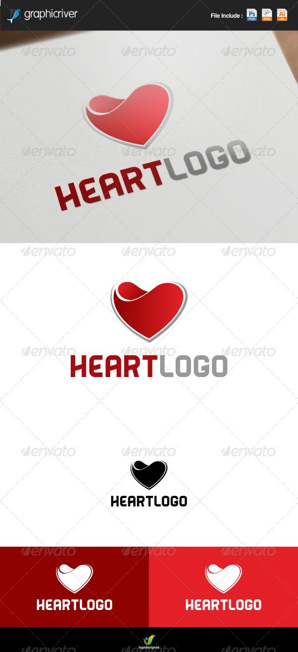 GraphicRiver Heart Logo 7886710