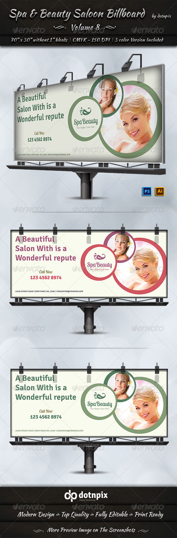Spa & Beauty Saloon Billboard Volume 8