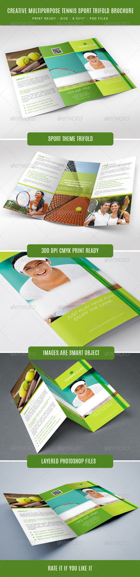GraphicRiver Tennis Club Trifold Brochure 7886798