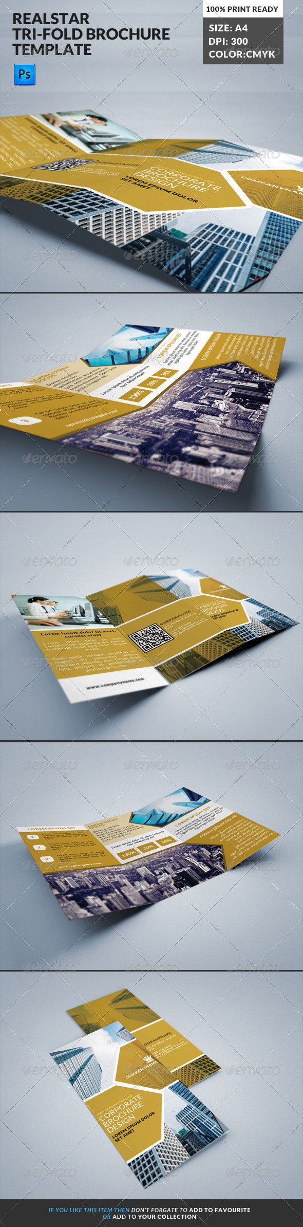 GraphicRiver Ralstar Real State Tri-fold Brochure Template 7886818