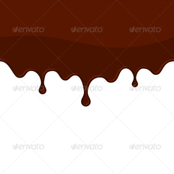 Melted Chocolate or Blood Seamless Drips