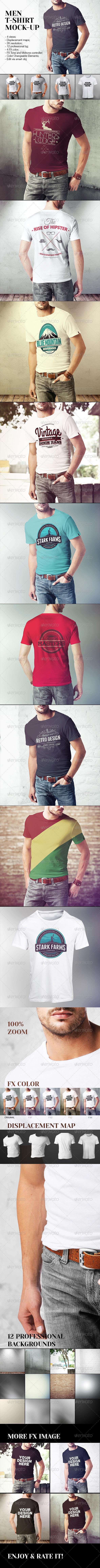 Men T-Shirt Mock-Up