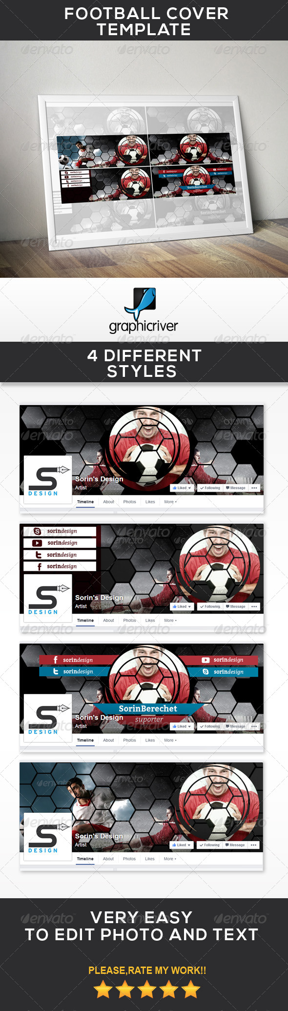 GraphicRiver Football Cover Template 7886909