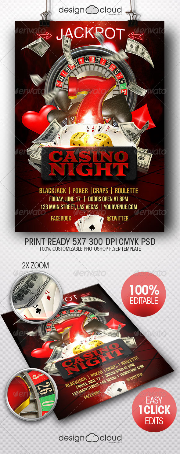 GraphicRiver Casino Night Flyer Template 7887221