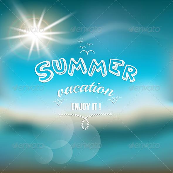 GraphicRiver Vintage Seaside Poster 7887403