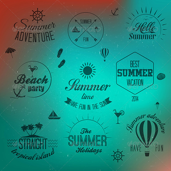 GraphicRiver Summer Holidays Design Elements 7887406