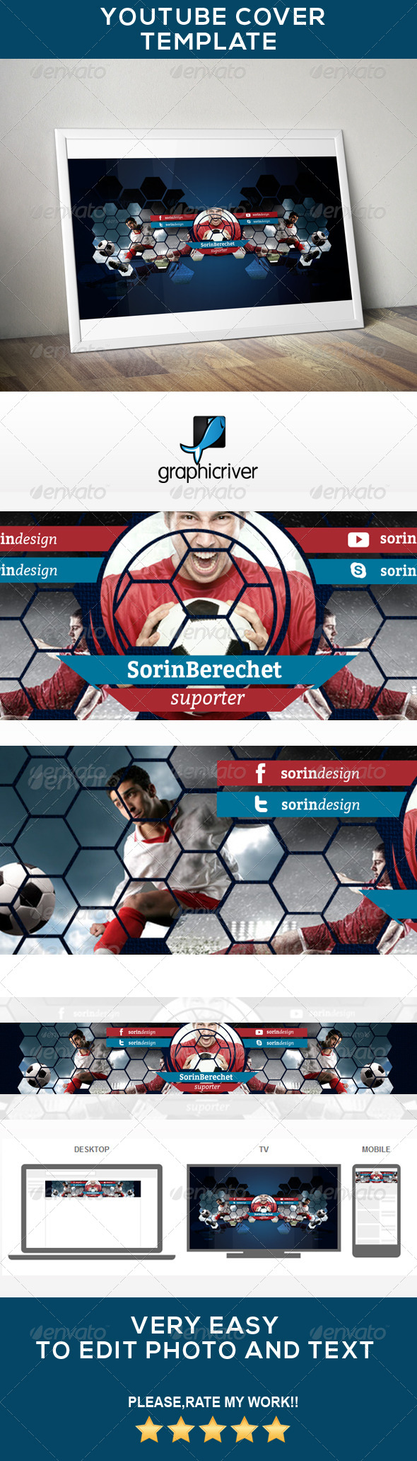 GraphicRiver Youtube Soccer Banner 7887412