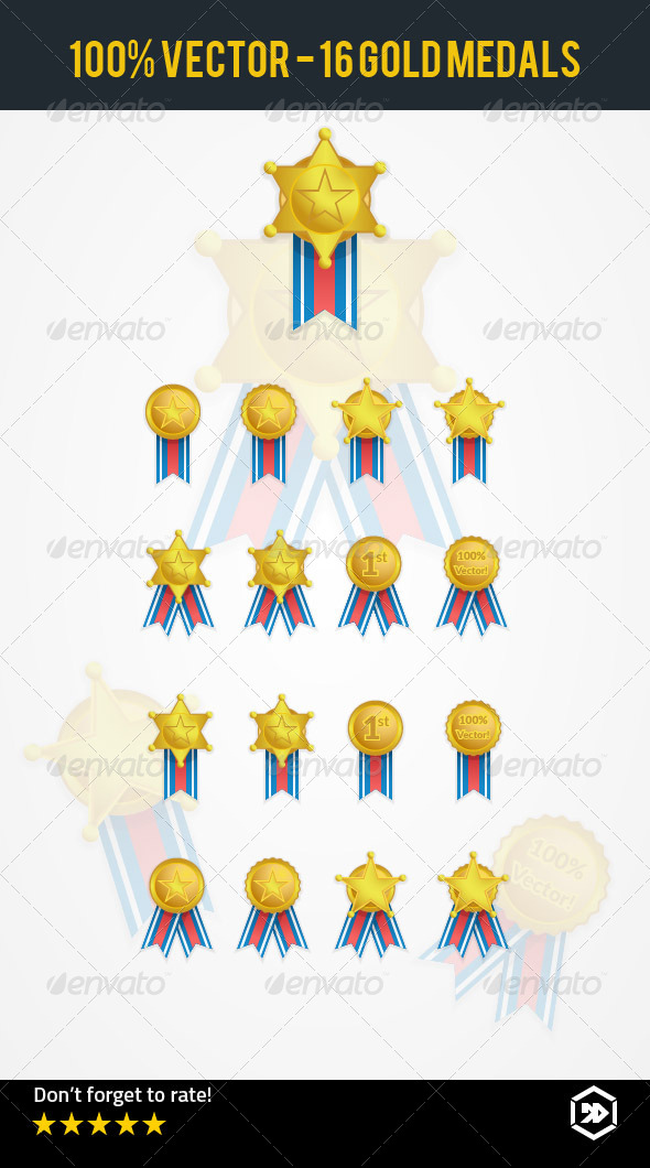 GraphicRiver Gold Medal Award Collection 7887468