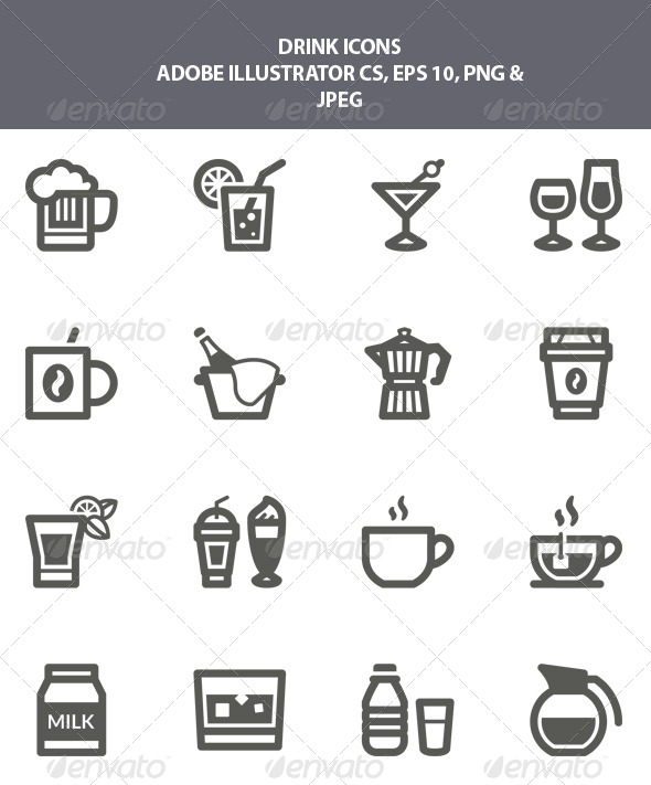GraphicRiver Drink Icons 7887521