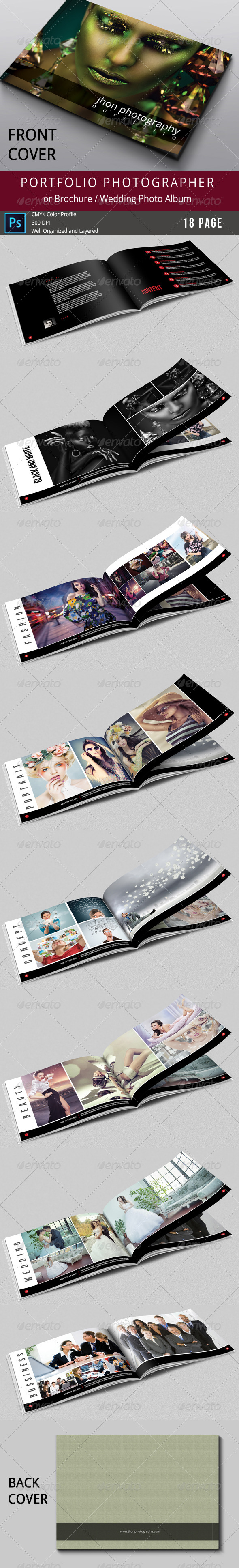 GraphicRiver 18 Pages Photography Portfolio or Wedding Album 7883825