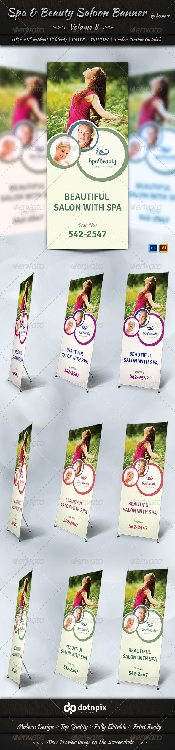 GraphicRiver Spa & Beauty Saloon Business Banner Volume 8 7888077