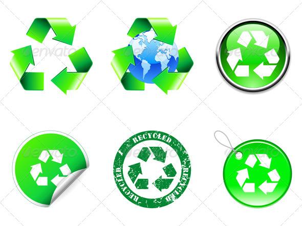 GraphicRiver Recycling Symbols 7888154