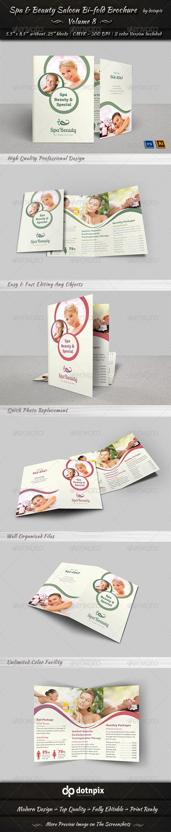 GraphicRiver Spa & Beauty Saloon Bi-fold Brochure Volume 8 7888174