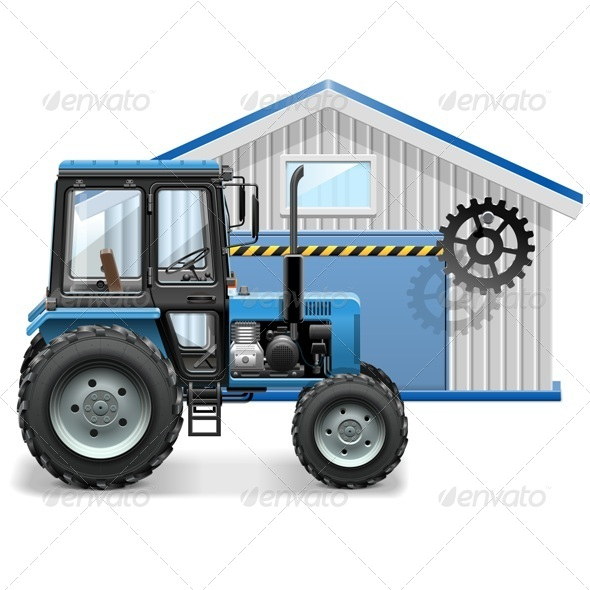 GraphicRiver Tractor Repair Concept 7888235