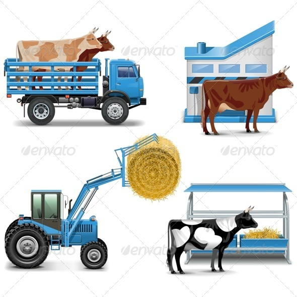Agricultural Icons Set 3