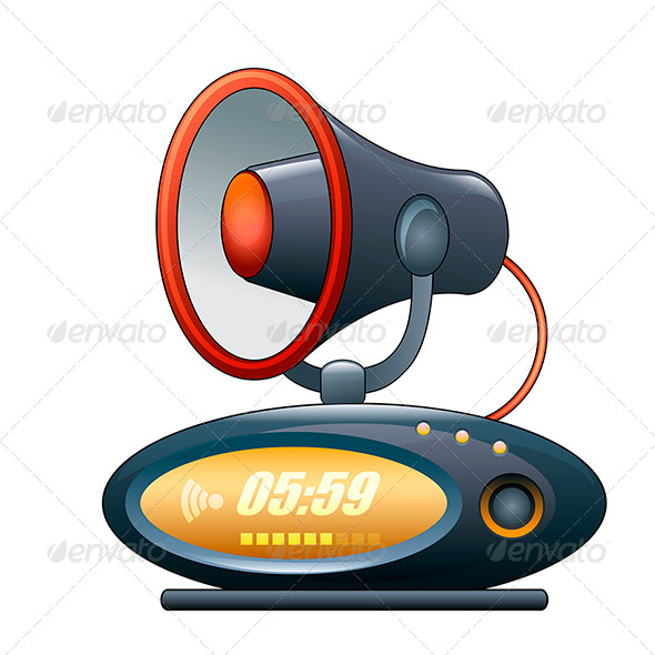 GraphicRiver Megaphone Alarm Clock 7888500