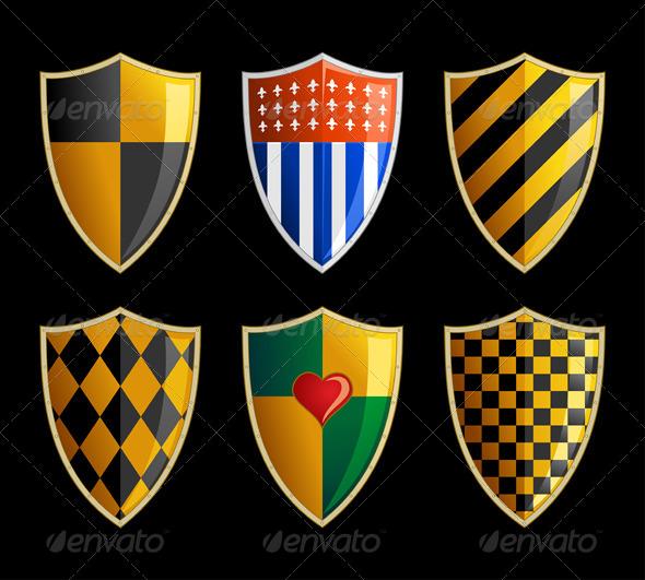 GraphicRiver Medieval Shields 7888554