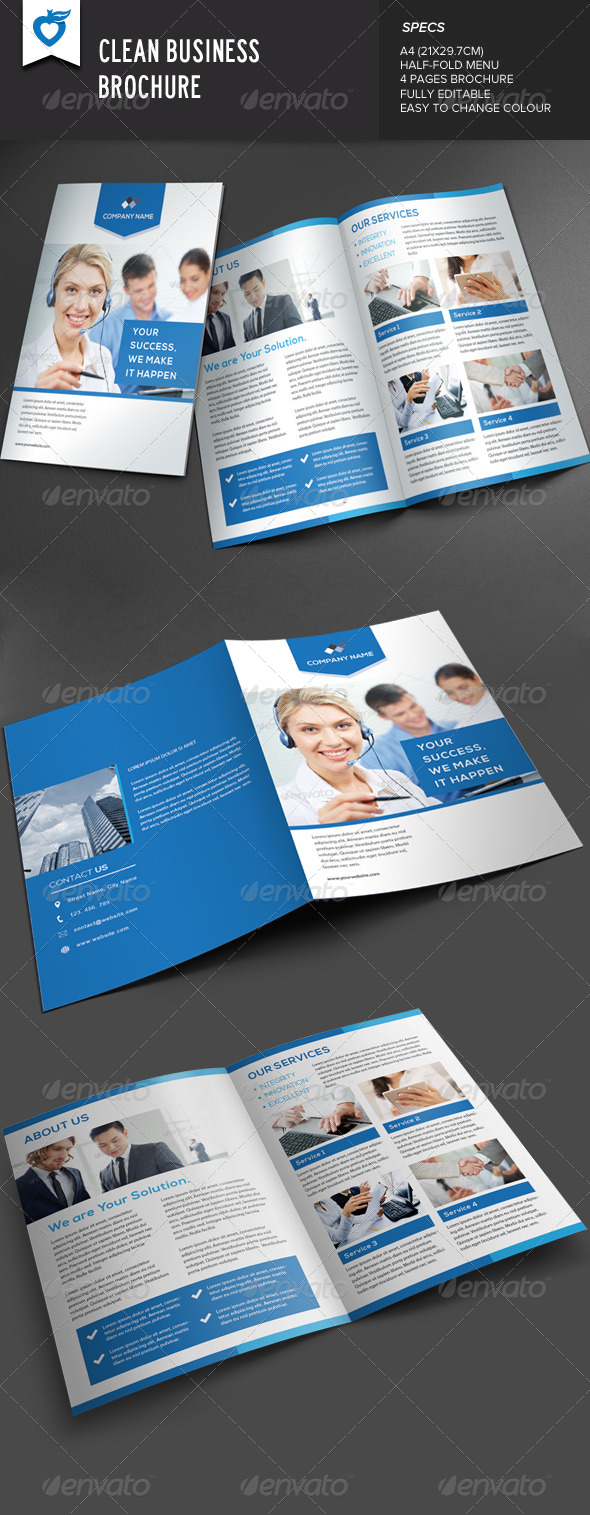 GraphicRiver Clean Business Brochure 7888566