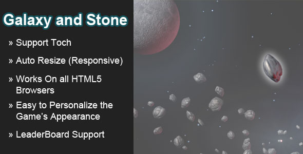 CodeCanyon Galaxy and Stone HTML5 Game 7888586