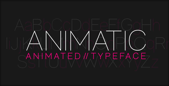 Animatic Animated Typeface