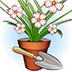 Garden Shovel and Window Plant - GraphicRiver Item for Sale