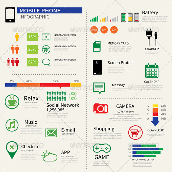 GraphicRiver Mobile Smart Phone Infographic 7888678
