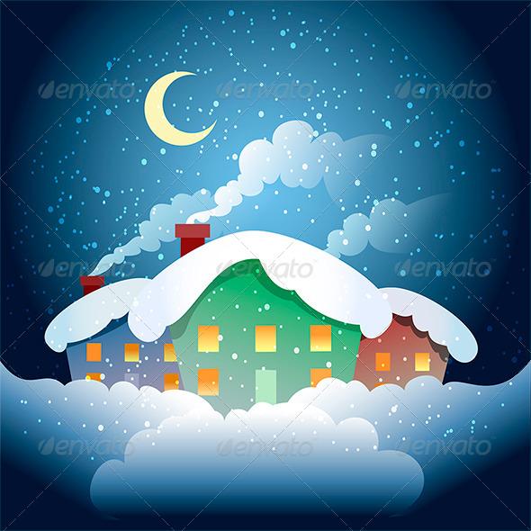 GraphicRiver Winter Village 7888726