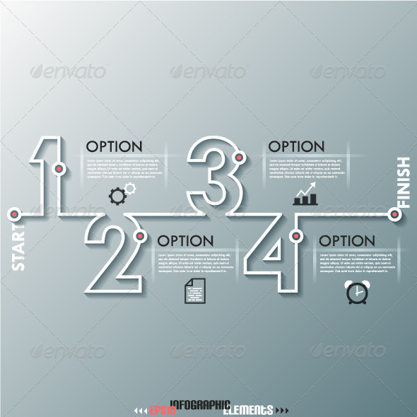 GraphicRiver Modern Infographic Process Template With Numbers 7888785