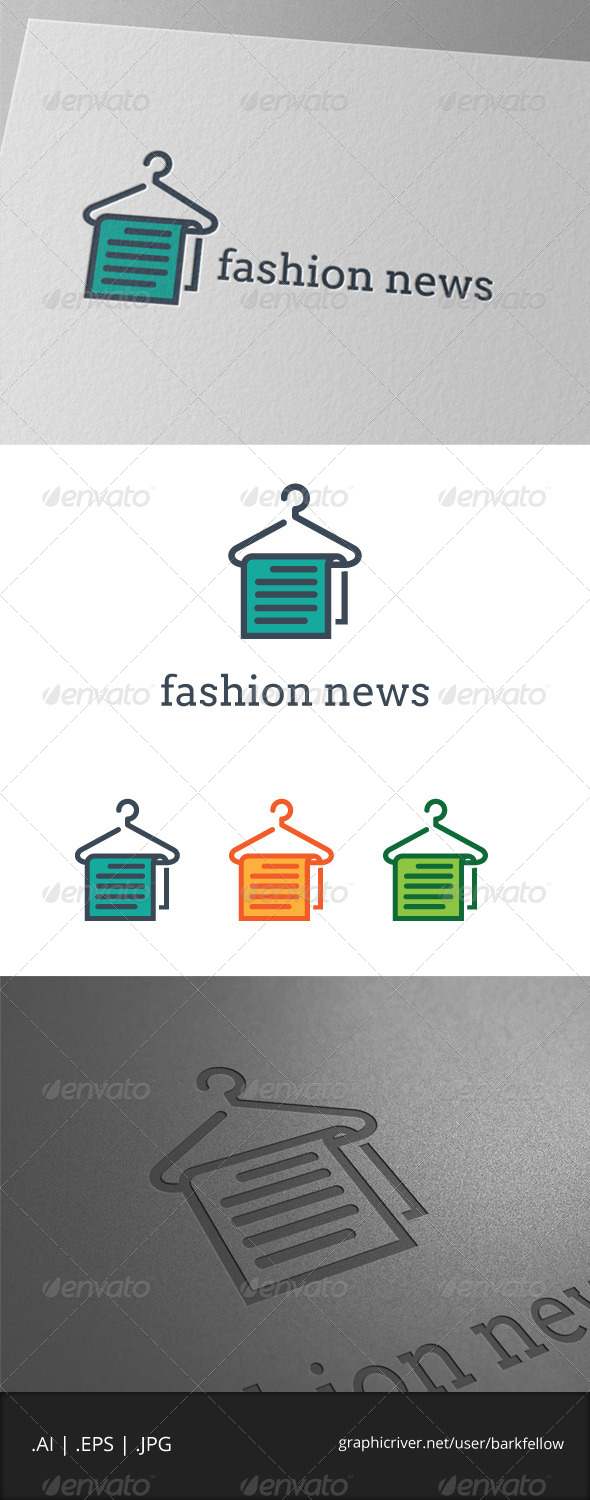 GraphicRiver Fashion News Logo 7888830