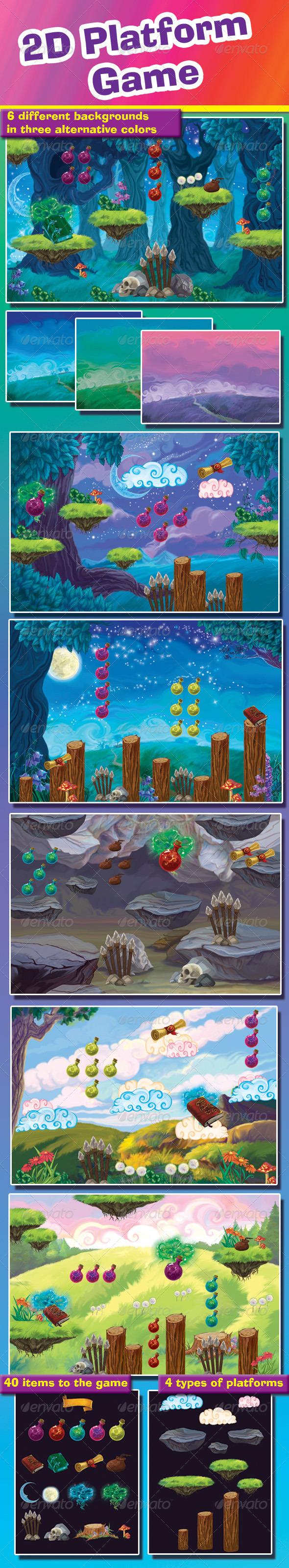 GraphicRiver 2D Platform Game 7889229