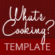 What's Cooking - GraphicRiver Item for Sale