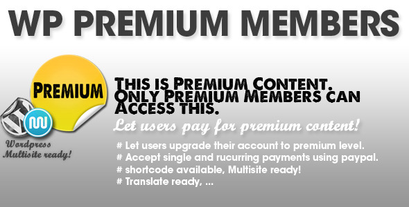 WP Premium Members + Pre Advertisements admin