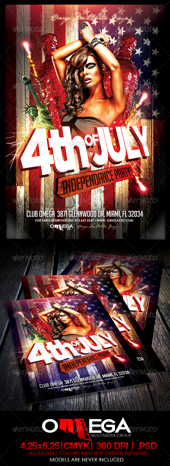 GraphicRiver 4th of July Independance Party 7889952