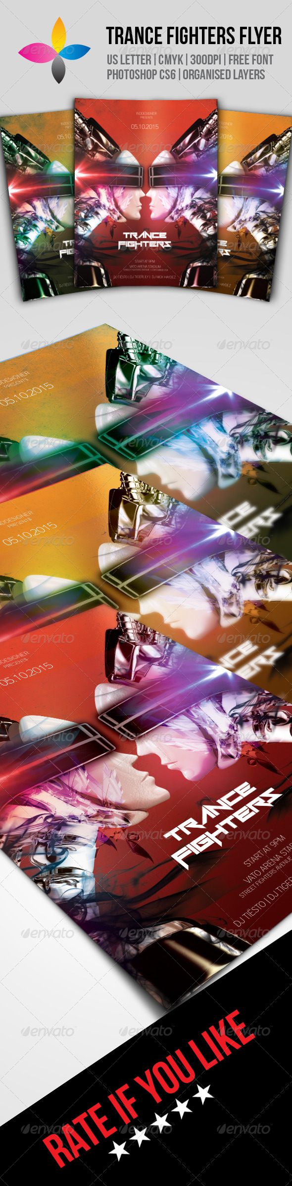 GraphicRiver Trance Fighters Flyer 7890103