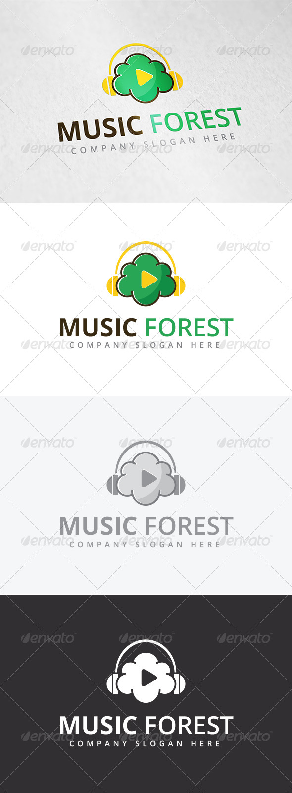 GraphicRiver Music Forest Logo 7890114