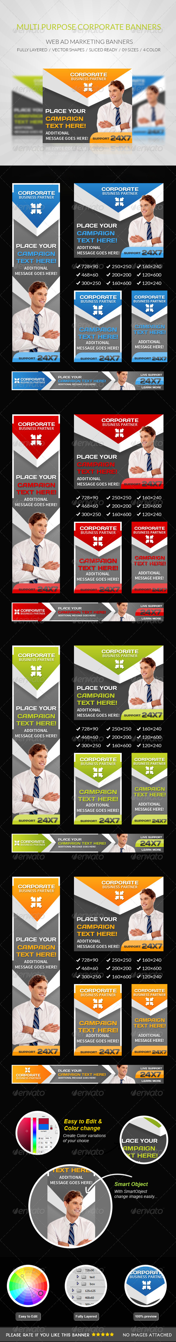 GraphicRiver Multipurpose Corporate Banners 7890297