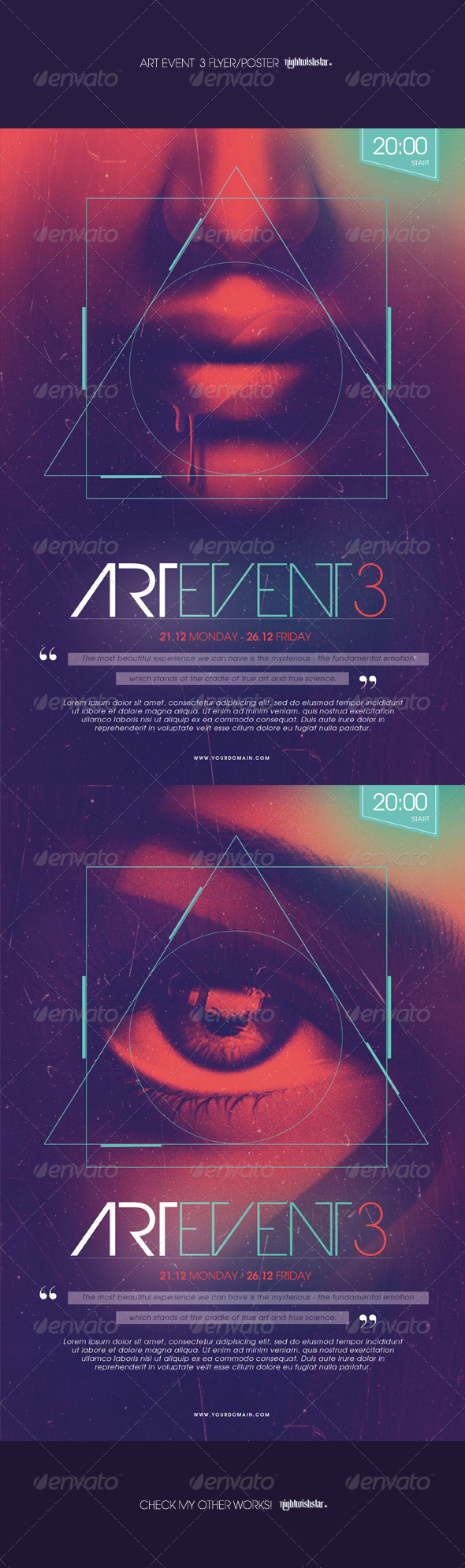 GraphicRiver Art Event 3 Poster Flyer 7890386