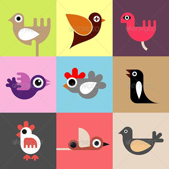 GraphicRiver Birds Wallpaper 7890517