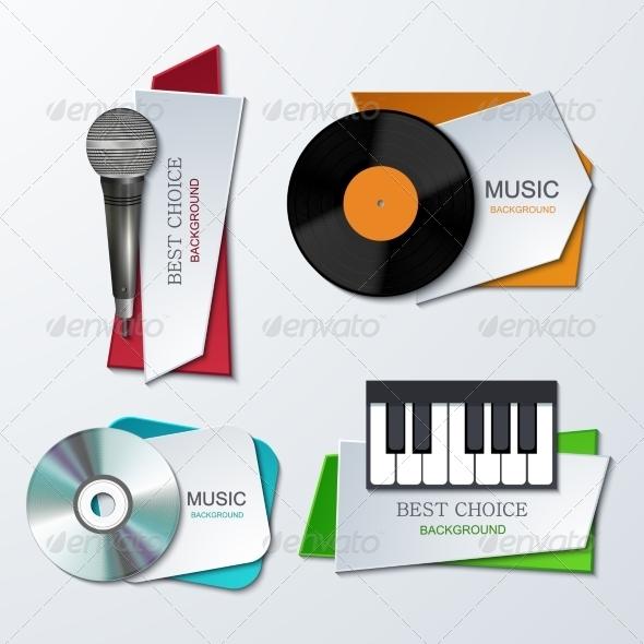 Modern Music Banners Set