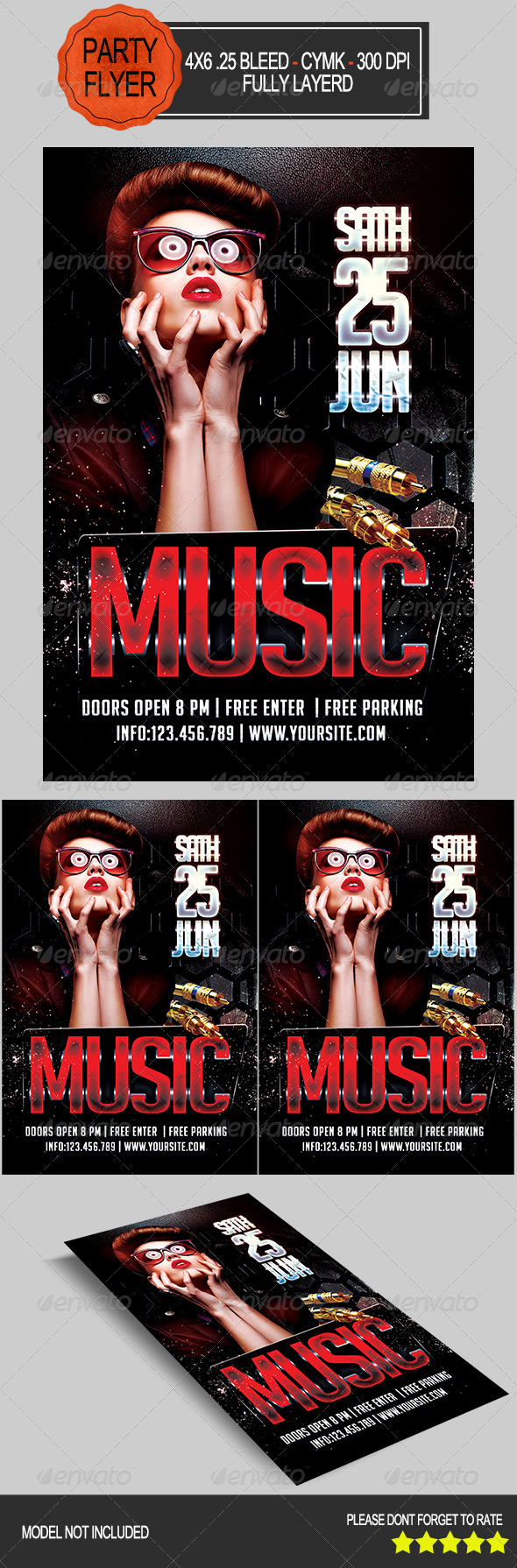 GraphicRiver Music Party Flyer 7890639