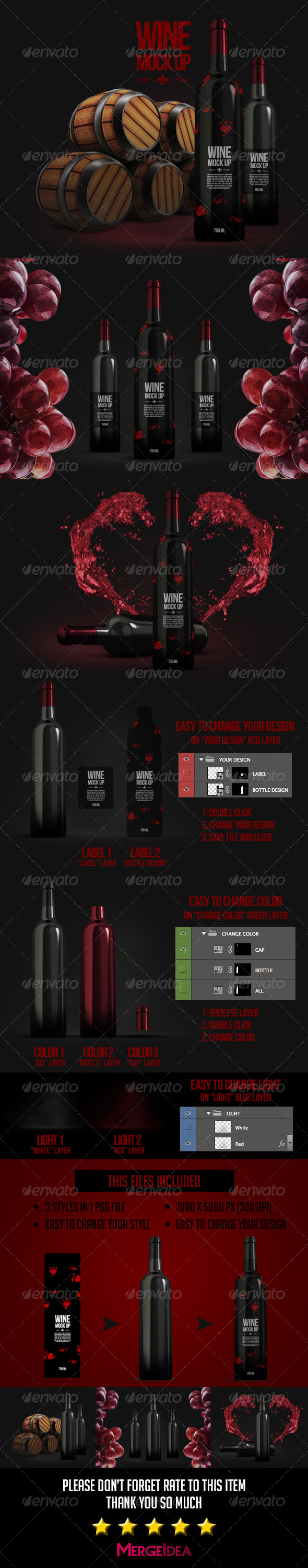 GraphicRiver Wine Mockup 7891171