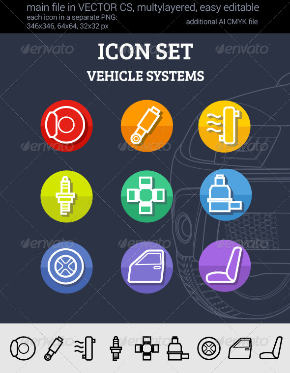 GraphicRiver Set of Car Systems 7891176