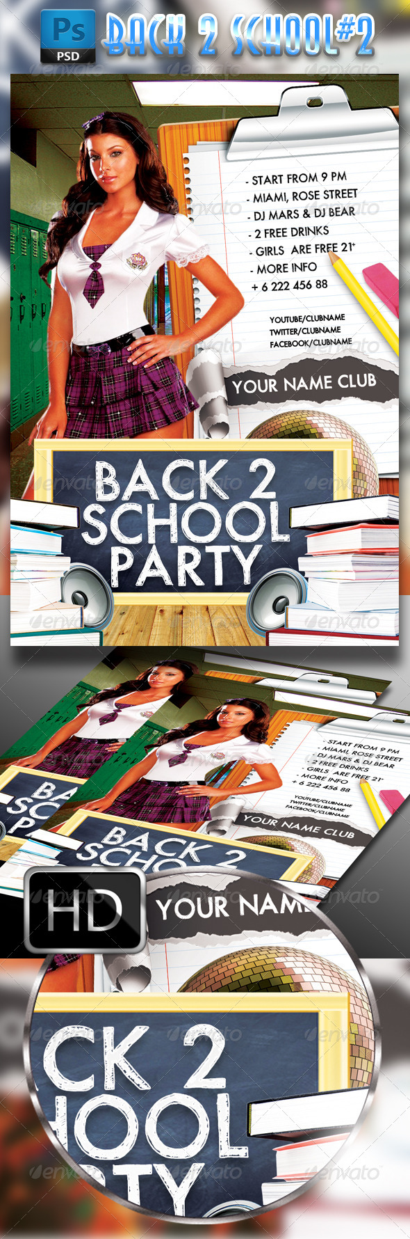 GraphicRiver Back To School Flayer Template#2 7891356