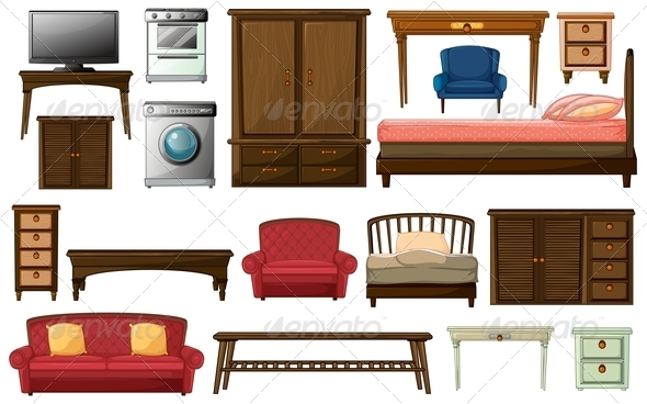 GraphicRiver House furniture and appliances 7891682