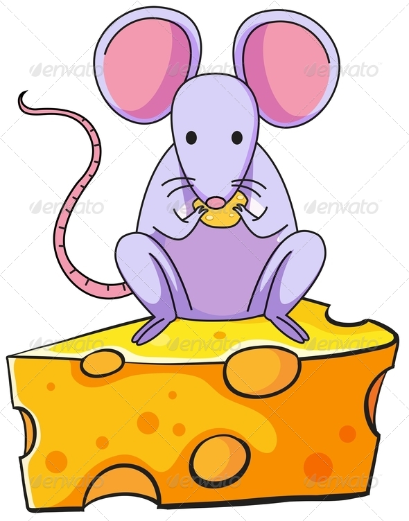 GraphicRiver Mouse Eating Cheese 7891753